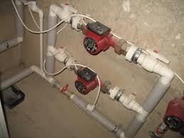 встроенный в систему отопления насос