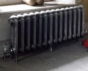 чугунный напольный радиатор