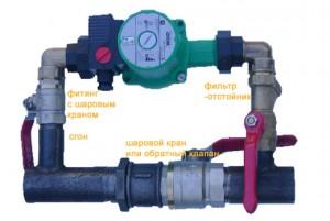 установка электронасоса в систему отопления
