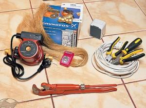 инструменты для установки теплового насоса