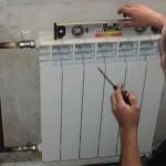 установка биметаллической батареи