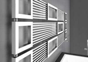 вертикальный обогреватель как элемент декора