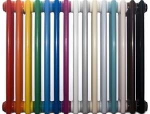 разноцветный трубчатый радиатор
