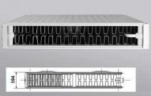 двухрядный радиатор Керми