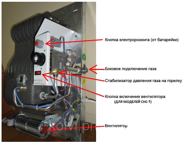 Автоматика поджига для газового отопительного конвектора Elekhermax GWH2