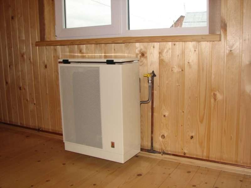 Установка газового конвектора в деревянном доме своими руками 46