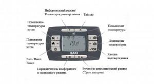 панель управления конденсационого котла baxi