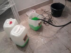 заливка тосола в систему отопления