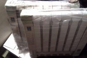 алюминиевая батарея отопления в упаковке