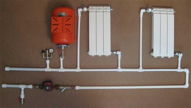 Отопление частного дома своими руками без труб