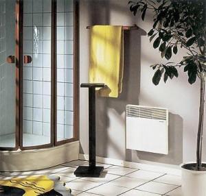 электрический конвектор в ванной