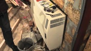 установка газового конвектора