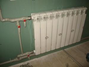боковая односторонняя установка радиатора