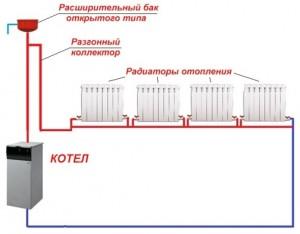 схема отопления ленинградкой