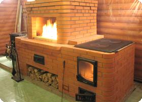 печь на даче из кирпича
