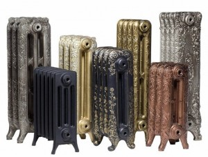 разнообразный дизайн чугунных батарей