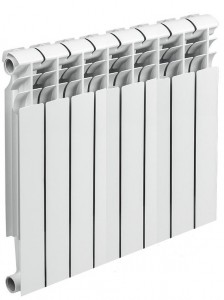 биметаллический радиатор из 8 секций
