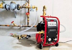 опрессовка отопления электрическим насосом