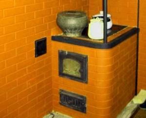 печь на даче с варочной панелью