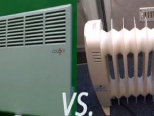 электрический конвектор и масляный радиатор