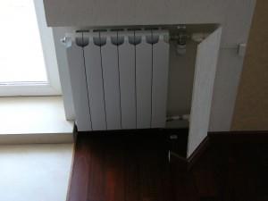 батарея отопления с радиаторным термостатом