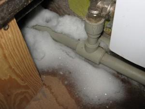 поломка системы отопления при замерзании воды