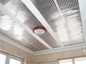 потолок с инфракрасной системой отопления