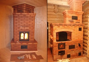 отопление дома дровяной печью