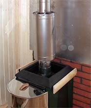 дымоход-конвектор установленный