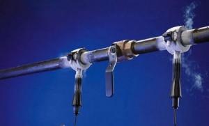 разморозка трубы отопления электротоком