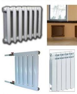 разнообразие батарей отопления
