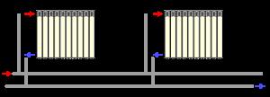 двухтрубная схема подключения