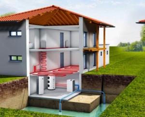 дом геотермальным отоплением