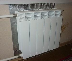 фольгоизол за радиатором отопления