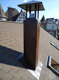 керамический дымоход на крыше