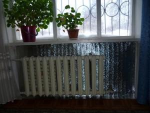 тепловой экран за батареей отопления