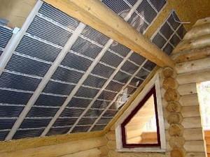 инфракрасный пленочный обогреватель на потолке