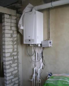 подключенный газовый котел ардерия