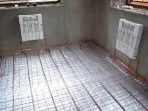 подключенный водяной пол в квартире