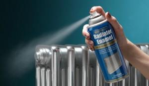 покраска батареи из флакончика с распылителем