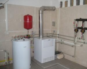 отопление дома напольным газовым котлом