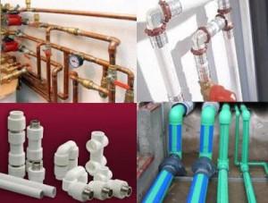 разнообразные трубы для отопления
