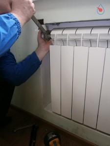 крепление нового радиатора