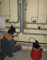 опрессовка системы отопления и её промывка
