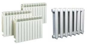 22чугунный и биметаллический радиатор отопления