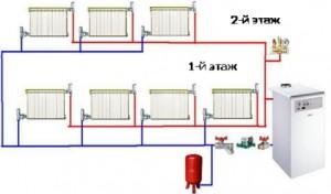 схема системы отопления ленинградка