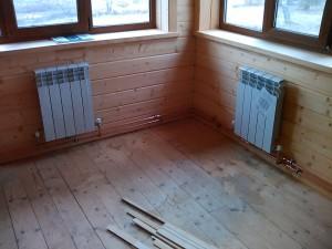 радиаторы отопления на веранде