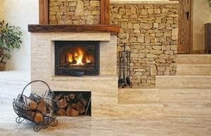 отопление дровяным камином