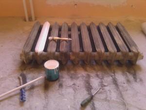 подготовка батареи к покраске