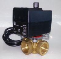 трехходовой кран с электроприводом